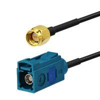 DAB/DAB+ AM FM Car radio aerial Fakra to SMA adaptor cable 500cm for Alpine DAB