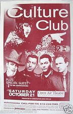 CULTURE CLUB 2000 SAN DIEGO CONCERT TOUR POSTER - Boy George, New Wave Music