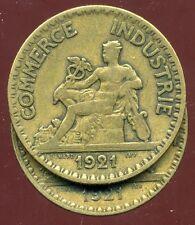 2 FRANCS  chambre de commerce 1921  ( le 2  FERMEE  )   ( bis )