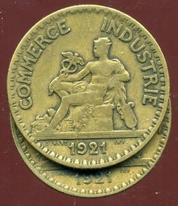 2 FRANCS  chambre de commerce 1921  ( le 2  FERMEE  )