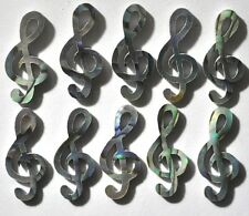 11 Music Notes Inlay Paua Abalone 18mm high x 1.5mm thickness