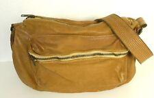 3RD FLOOR Italy Handtasche Schultertasche Crossbody Braun Cognac Leder (H42)