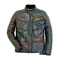 New Dainese Ducati Quattrotasche Leather Jacket Men's EU 56 Dark Brown 981031256