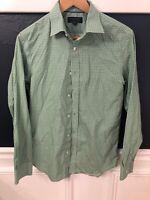 "Men's Banana Republic Button down Shirt Size S Non Iron Slim Fit Green 32-33"""