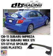 ST-Style Rear Trunk Spoiler Wing (ABS Plastic) Fits 08-14 Subaru WRX STi 4dr