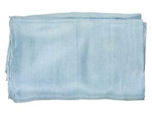 (€15,43/qm) Seidentuch BLEU Pongee 36g 90x90cm handroliert Reine Seide #1109080