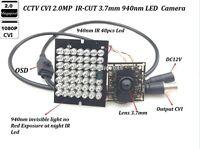 CCTV Invisible 940nm IR 48 PCS LED Lens 3.7mm Pinhole HD-CVI  2.0MP 1080P Camera