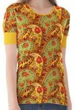 Damen-T-Shirts mit Paisley-Muster keine Mehrstückpackung S