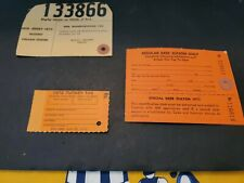 Vintage New Jersey Hunting Tags