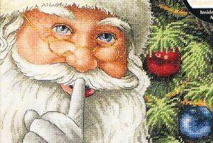 "DIMENSIONS Gold Petites ""Santa's Secret"" Christmas Counted Cross Stitch Kit"