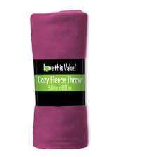 Imperial Home 50 x 60 Inch Soft Cozy Fleece Blanket / Fleece Throw - Purple
