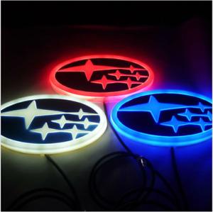 4D Car LED Logo Light Auto Emblems Rear Badge Lamp For SUBARU Tribeca XV BRZ