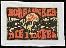 UK SUBS TEA TOWEL BORN A ROCKER SKULL PUNK ROCK 1977 WALL HANGING POSTER