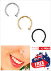 1pc Surgical Steel Silver Gold Black Nose Stud Ring Hoop 20g 0.8mm Body Piercing