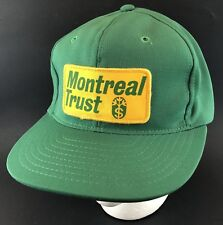 Vtg Montreal Trust Company Hat Snapback Patch Cap Young An Money Fund 1980s Bank