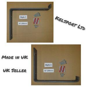 Heavy Duty Steel Scaffold Board Rustic Shelf Brackets 254mm 10 inch UK Made