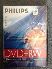 New blank philips DVD RW - 4.7GB DATA - 120 MINUTES VIDEO