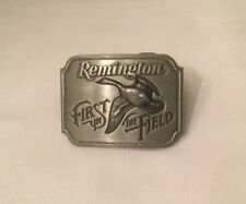 1980 REMINGTON First In The Field Canada Goose Pewter Belt Buckle by Sid Bell