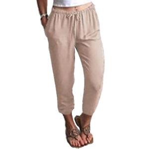 Summer Cotton Linen Pants Women Plus Size Women Pants Casual Trousers Women Big