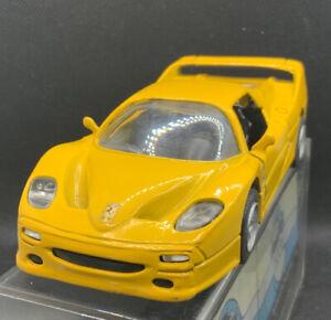 YELLOW FERRARI F50 METAL MODEL CAR - BOXED - SCALE 1:32 MODEL IS MINT