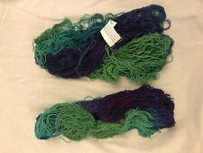 Yarntopia Treasures Santa Fe Yarn Green Purple Hand Painted Bamboo Cotton Lot  2