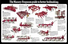 Vintage Massey Ferguson Plough Bed Laying Guide SALES BROCHURE/POSTER ADVERT A3