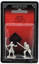 Ral Partha 04-303 Ninja (Kung Fu Theater) Oriental Warrior Assassins Miniatures