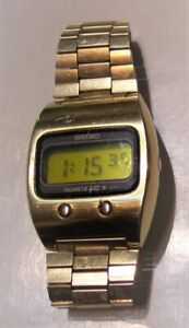 vintage Seiko watch 0624-5009 lemon face gold finish wristwatch running