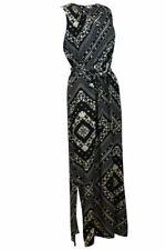 Wallis Maxi Dress Animal Khaki or Black white Monochrome Sleeveless Summer Long