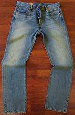 Levi's 501 Straight Leg Jeans Men's Size 38 X 30 Classic Distressed Wash NEW