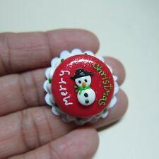 Christmas SNOWMAN Cake Dollhouse Miniature Food Bakery Holiday Xmas 6