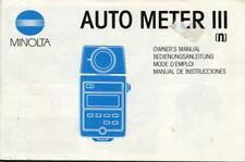 Minolta Auto Meter III Instruction Manual