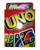 UNO Card Game Family Party Fun Latest Version With Customisable Wild Cards New