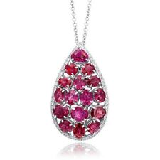 Natural Ruby 10.50 carats set in 14K & 18K White Gold Necklace