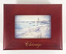 Tom Lynch Postcards Chicago Skyline Rosewood Jewelry Keepsake Trinket Photo Box