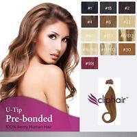 Pre Bonded Nail Tip / U Tip Keratin 100% Remy Human Hair Extensions 50 strands