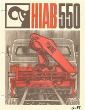 Equipment Brochure Hiab 550 Truck Crane Lift E6794