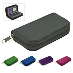 22-Slot Memory Card Case SD SDHC SIM CF Card Holder Protective Box Carrying Bag