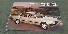 1980 PEUGEOT 505 SALOON UK FOLDER BROCHURE GR SR Ti STi GRD SRD