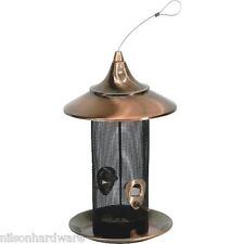 "Stokes Select 8"" D X 13.4"" H Copper Screen Hanging Bird Seed Feeder 38287"