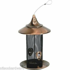 """Stokes Select 8"""" D X 13.4"""" H Copper Screen Hanging Bird Seed Feeder 38287"""