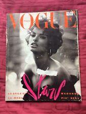Italian VOGUE Giugno 1990 Evangalista COVER + Madonna, Bowie and more!