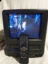 "Roadstar TLV1084 10"" CRT TV VHS Player Recorder Retro Gaming Portable & Remote"