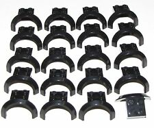 Lego Lot of 20 Black Vehicle Mudguards 4 x 2 1/2 x 1 2/3 with Arch Round Parts