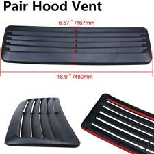 Pair Shutter SUV Car Hood Air Vent Scoop Decoration Bonnet Cover Sticker Black