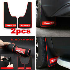 2pcs Universal Mud Flaps Protector Splash Guards Trim Mouldings Black/ Red