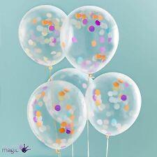"""Ginger Ray 12 """" Confettis hélium Ballons de fêtes Latex Mariage Anniversaire"""