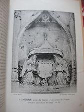 1920 Les anges porte-écu des Châteaux du Roi en Bourgogne 16ème siècle David