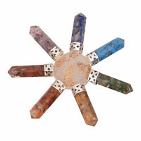 Multi Stone 7 Point Energy Generator Pyramid 7 Chakra Symbol Crystal Healing