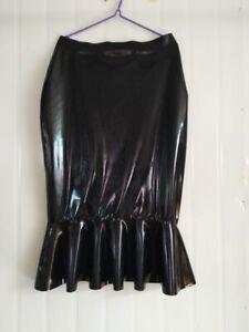 Latex Catsuit Rubber Tights Women's sexy Short skirt Black 0.4mm handmade S-XXL